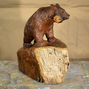 "Thomas Suby with Ramon D.C., ""Black Bear with Hollow Tree"""