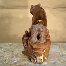 "Load image into Gallery viewer, Thomas Suby with Ramon D.C., ""Black Bear with Hollow Tree"""