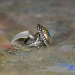 Vintage silver and turquoise ring. Size 7