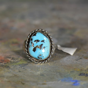 Vintage silver and turquoise ring. Size 11