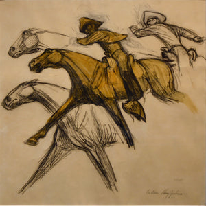"Harry Jackson ""Pony Express~ study"""