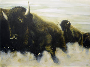 "Jeff Griggs, ""Herd of Bison"""