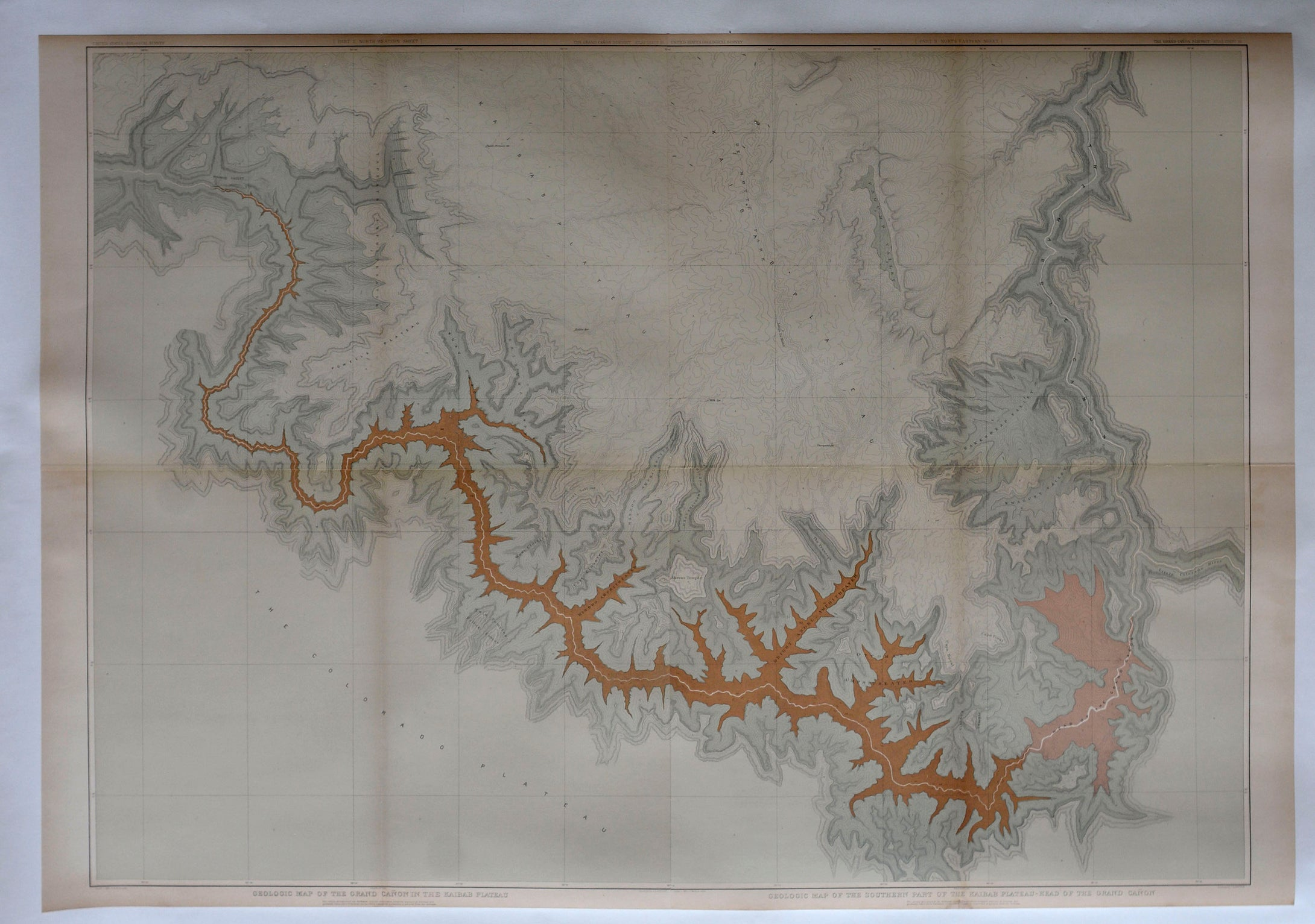 Map of the Grand Canyon, 1882