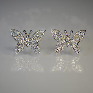 Butterfly style Gold and Diamond Earrings