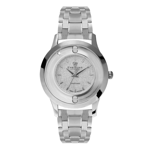 Magic, a Ladies Collect Watch with One White Real Diamond  and a Silver Finished Steel Bracelet