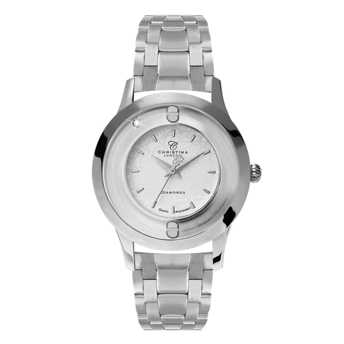 Original, a Ladies Collect Watch with One White Real Diamond  and a Silver Finished Steel Bracelet