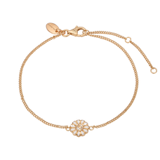 Load image into Gallery viewer, Single Marguerite Bracelet Gold and White with Gemstones
