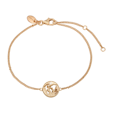 Load image into Gallery viewer, The World Bracelet Gold with Gemstones