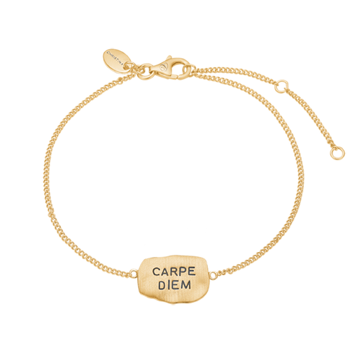 The way one chooses to live one's life is what makes one, and there is nothing better than Seizing The Moment & The Day. Embrace your way of life and remind yourself to do so with this beautifully designed Carpe Diem bracelet that proudly announces this Latin aphorism. For that special touch and to make our Bracelet Collection even more special, all the bracelets in our collection are delicately and expertly handcrafted in 925 Sterling Silver and finished with Rhodium Plating.