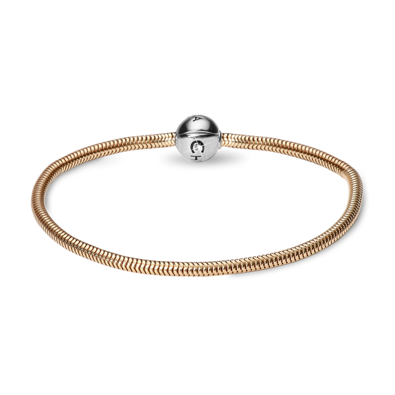 9ct Solid Gold Bracelet with Silver Clasp for Charms