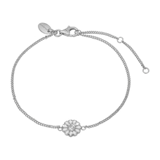Load image into Gallery viewer, Single Marguerite Bracelet Silver and White with Gemstones