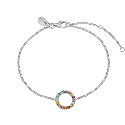 Remind yourself and be proud of your various life goals and ambitions with the Multi Coloured Rainbow of Gemstones that adorn Christina Global Goals bracelet.  Every bracelet in our collection are delicately and expertly handcrafted in 925 Sterling Silver and finished in either an 18ct Gold or Rhodium Plating and this bracelet is further embellished with Seventeen Genuine Gemstones, including: Rhodolite, Madeira Citrin, Peridot, Garnet, Swiss Blue Topaz, Citrin, London Blue Topaz Stones