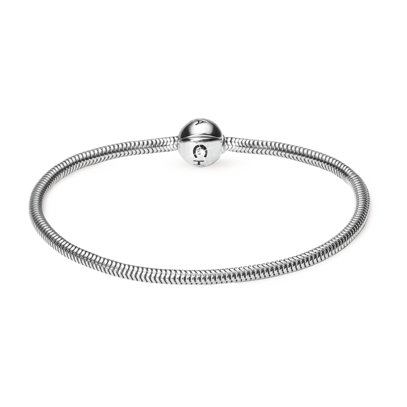 Rhodium Plated 925 Sterling Silver Bracelet for Charms