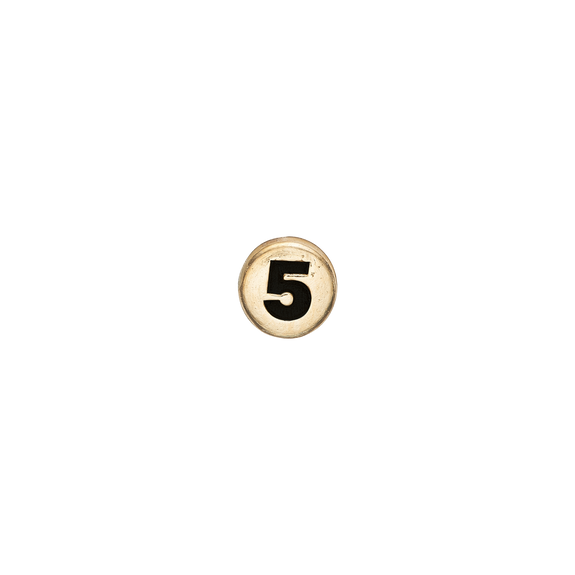 Number 5 Watch Element Gold