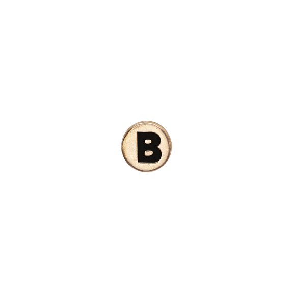 Letter B Watch Element Gold