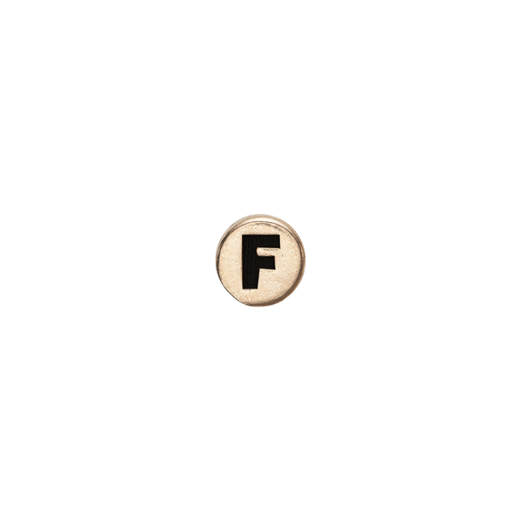 Letter F Watch Element Gold