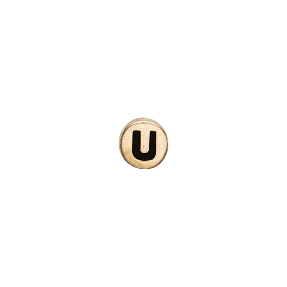 Letter U Watch Element Gold