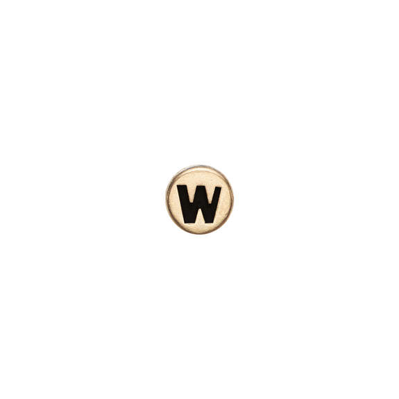 Letter W Watch Element Gold
