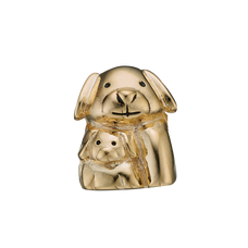 Load image into Gallery viewer, Whether Puppy Love reminds you of that sweet feeling of your first crush on someone in your childhood or adolescence or reminds you of the adoring, worshipful affection that you have for your pet dog or puppy, this charm will always warm your heart. Handcrafted in Silver finished with a Gold or Rhodium Plating