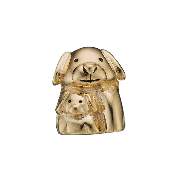 Whether Puppy Love reminds you of that sweet feeling of your first crush on someone in your childhood or adolescence or reminds you of the adoring, worshipful affection that you have for your pet dog or puppy, this charm will always warm your heart. Handcrafted in Silver finished with a Gold or Rhodium Plating