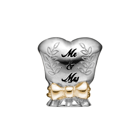 "Make that special moment in your life last forever with this sterling silver handcrafted Wedding Charm. Celebrate and remember the romance of saying ""I do"" and let it live on forever.  Handcrafted in Sterling Silver and finished with 18ct Gold or Rhodium Plating"