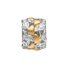 Load image into Gallery viewer, Love Nature is an absolutely outstanding handcrafted charm with multiple garlands of hearts and leaves, celebrating the feeling that being in love brings.  A truly stand out ring for any occasion., Love Nature, handcrafted in Sterling Silver finished in Gold or Rhodium Plating. Also available Two Tone silver & gold..