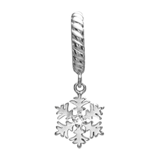 Load image into Gallery viewer, Many of us wish for a White Christmas as Christmas means snow and nothing characterises snow more than the purity of a Snowflake.For that special touch and to make our Charm Collection even more special, all the charms in our collection are delicately and expertly handcrafted in 925 Sterling Silver and finished in either an 18ct Gold or Rhodium Plating