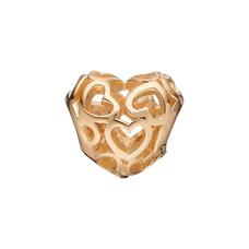 Load image into Gallery viewer, Heart Beat Love Bead Charm Gold