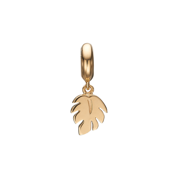 Palm Leaf Hanging Charm Gold