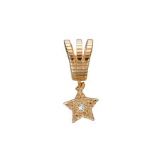 Load image into Gallery viewer, You're a Star Hanging Charm Gold with Gemstones