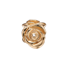 Load image into Gallery viewer, Topaz Roase Bead Charm Gold with Gemstones