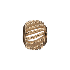 Load image into Gallery viewer, Dotted Line Bead Charm Gold