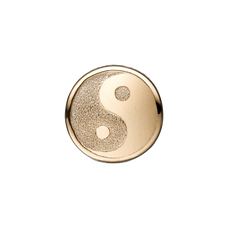 Load image into Gallery viewer, Sparkling Ying Yang Bead Charm Gold