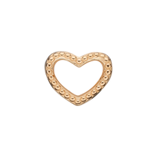 Load image into Gallery viewer, Petite Heart Dots Bead Charm Gold