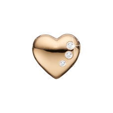 Load image into Gallery viewer, Petite Secret Hearts Bead Charm Gold with Gemstones