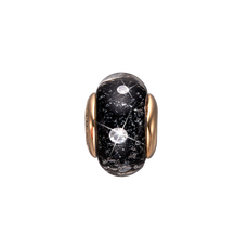 Load image into Gallery viewer, Black Topaz Murano Glass Gold with Gemstones