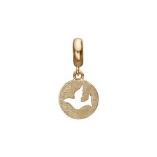Load image into Gallery viewer, Dove of Peace Hanging Charm Gold