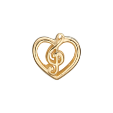 Load image into Gallery viewer, Music Love Bead Charm Gold
