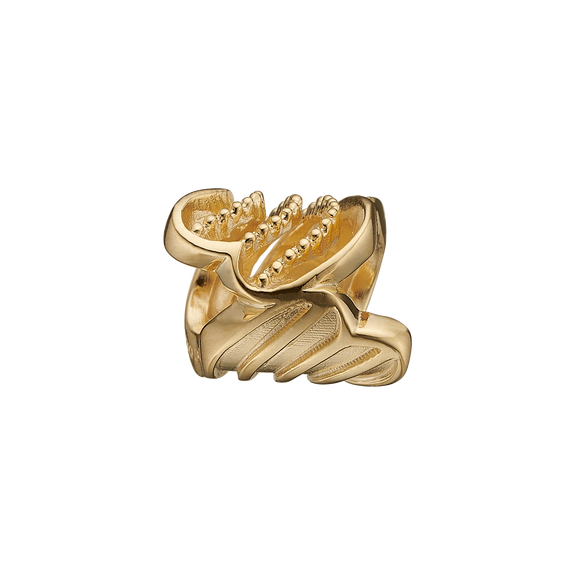 Twist of Joy Bead Charm Gold