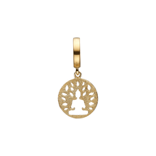 Load image into Gallery viewer, Meditation Hanging Charm Gold