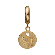 Load image into Gallery viewer, Being a family means you are a part of something very wonderful. It means you will love and be loved for the rest of your life. The Happy Family charm is beautifully designed with a carved heart, showing the word FAMILY on the polished side and a set of parents and children on the other side and is expertly handcrafted in 925 Sterling Silver and finished with an 18ct Gold or Rhodium Plating.