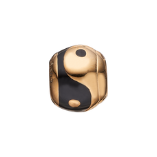Load image into Gallery viewer, Ying & Yang Bead Charm Gold