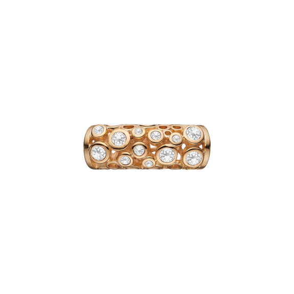 Sparkling Universe Tube Gold with Gemstones