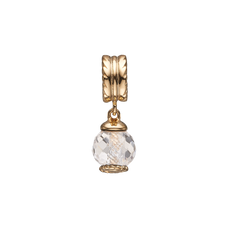 Load image into Gallery viewer, Big Moving Crystal Hanging Charm Gold with Gemstones