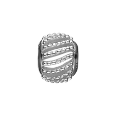 Load image into Gallery viewer, Dotted Line Bead Charm Silver