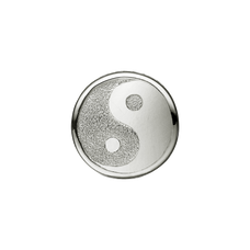 Load image into Gallery viewer, Sparkling Ying Yang Bead Charm Silver