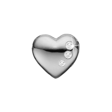 Load image into Gallery viewer, Petite Secret Hearts Bead Charm Silver with Gemstones