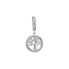 Load image into Gallery viewer, Topaz Tree of Life Hanging Charm Silver with Gemstones