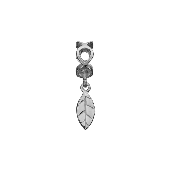 moving Leaf Hanging Charm Silver