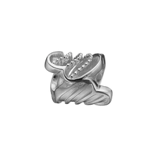 Load image into Gallery viewer, Twist of Joy Bead Charm Silver